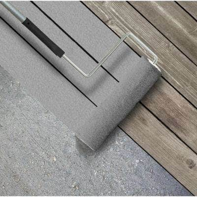 5 gal. #PFC-68 Silver Gray Textured Solid Color Exterior Wood and Concrete Coating