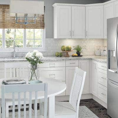 Cambridge Shaker Assembled 24x30x12 in. Wall Cabinet with 1 Soft Close Door in White