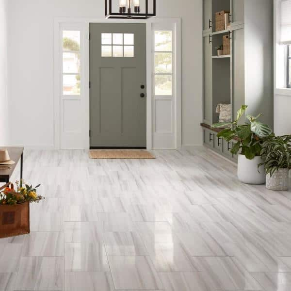 Quictile Locking Porcelain Tile, Porcelain Bathroom Tiles Home Depot
