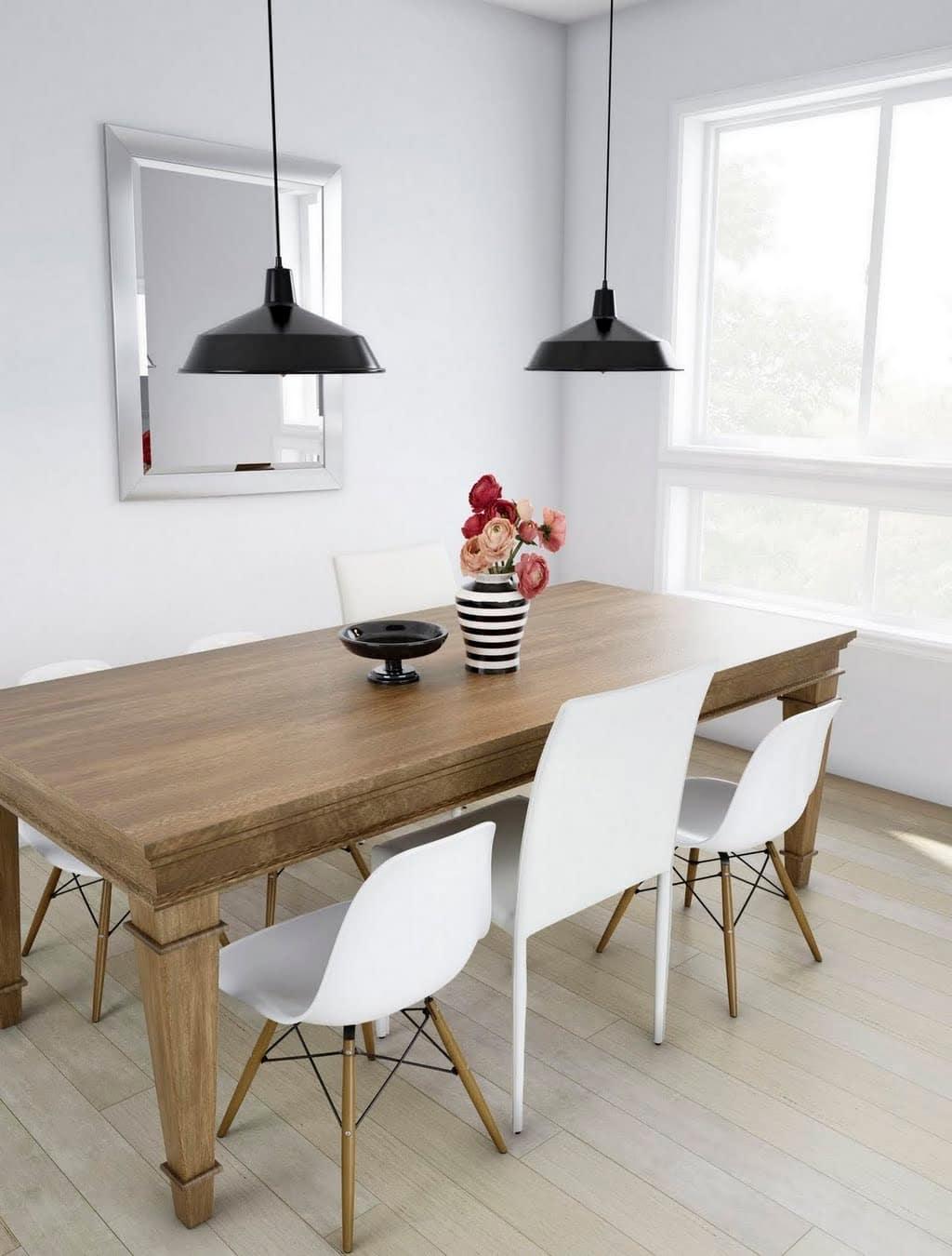 Minimalist Mixed Dining Room