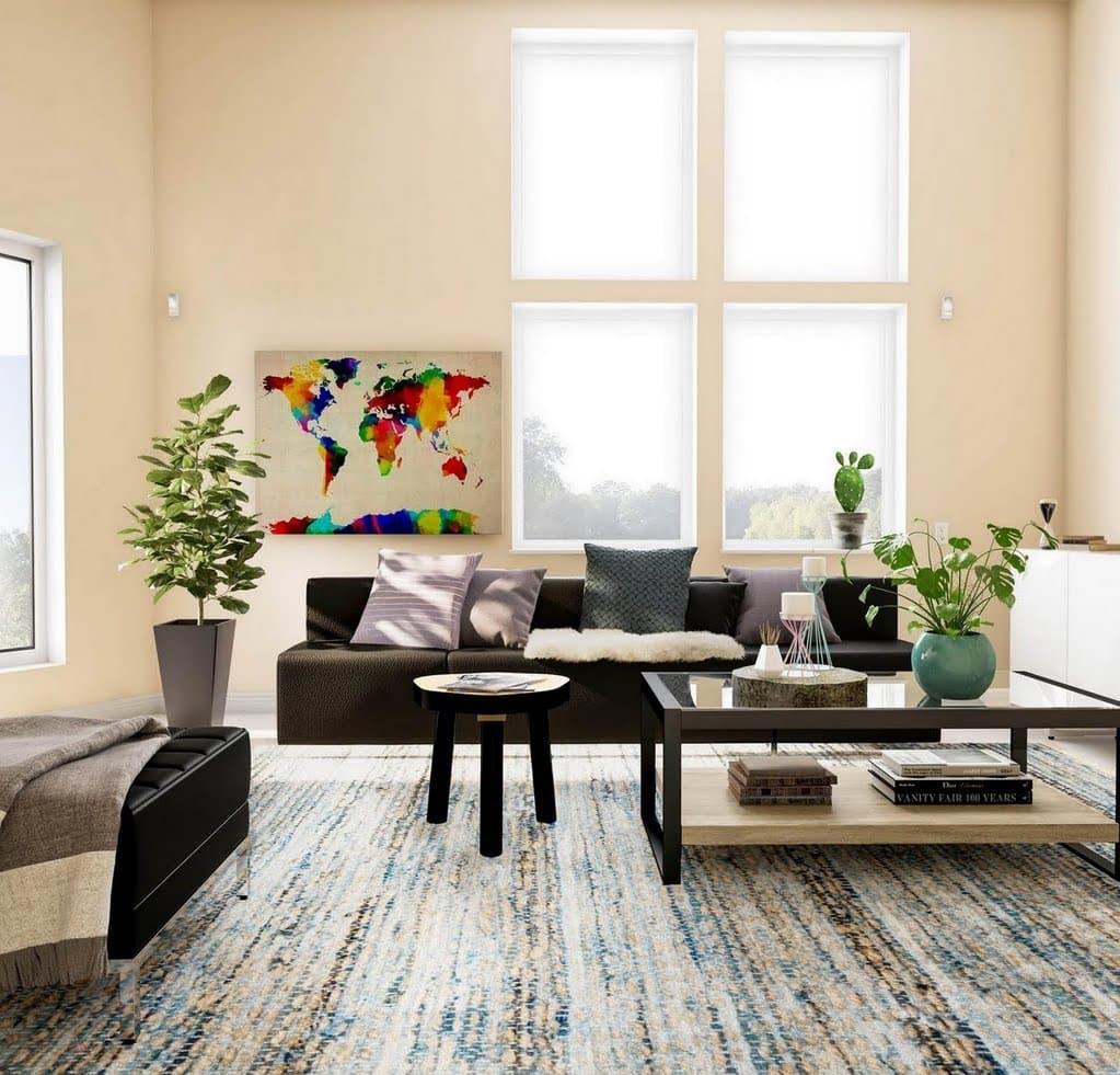 Ecru Travelers Living Room