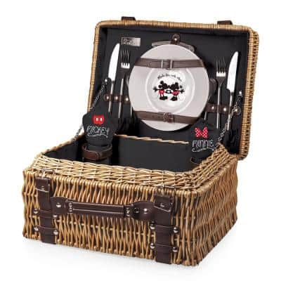 Mickey and Minnie Mouse Black Lining Champion Picnic Basket