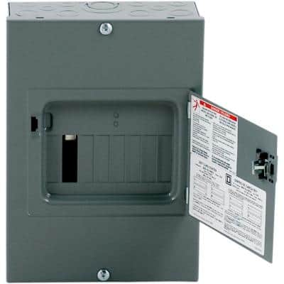 QO 100 Amp 8-Space 16-Circuit Indoor Surface Mount Main Lug Load Center with Cover, Door