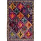 Monaco Purple/Multi 6 ft. 7 in. x 9 ft. 2 in. Area Rug