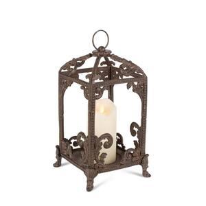 Med Brown Metal Lantern