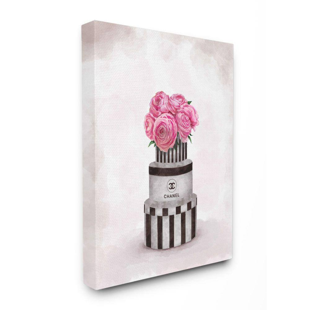 Stupell Industries 30 In X 40 In Fashion Flower Box Stack Pink Painting By Ziwei Li Canvas Wall Art Ygg 171 Cn 30x40 The Home Depot