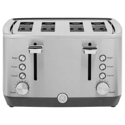 1500W 4-Slice Stainless Steel Toaster with 7 Shade Settings