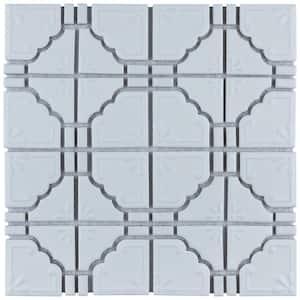 Moonbeam Matte White 12 in. x 12 in. Porcelain Mosaic Tile (9.79 sq. ft. / Case)