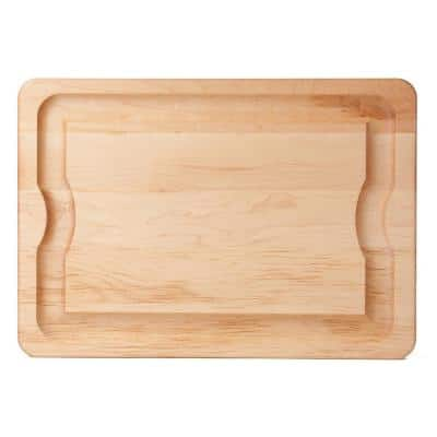 BBQ 24 in. x 16 in. x 1 in. Maple Carving Board