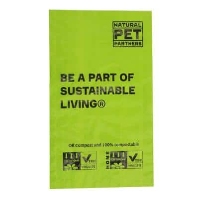 100% Compostable Commercial Dog Bags (200-Bags Roll, 10-Inner Boxed Rolls per Case/2000)