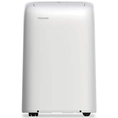 10,000 BTU (7,000 BTU, DOE) 115-Volt Portable Air Conditioner with Dehumidifier Function and Remote Control in White