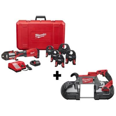 M18 18-Volt Lithium-Ion Brushless FORCE LOGIC Press Tool Kit w/ 1/2 in. - 2 in. Jaws Kit with Deep Cut Band Saw