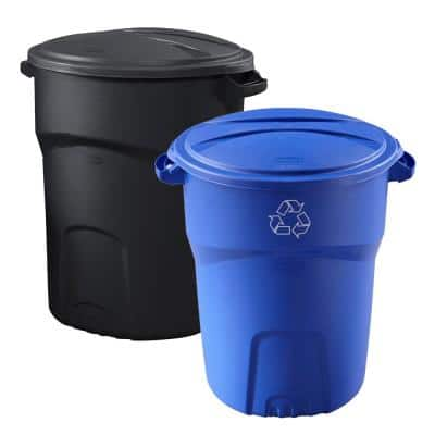 Roughneck 32 Gal. Black with Recycle Combo Pack