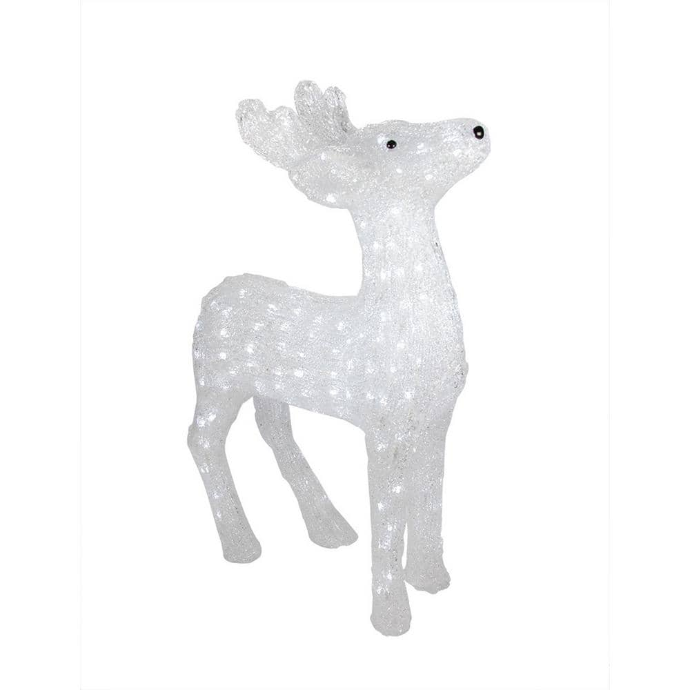 Northlight 29 In Christmas Lighted Commercial Grade Acrylic Reindeer Display Decoration 32266703 The Home Depot