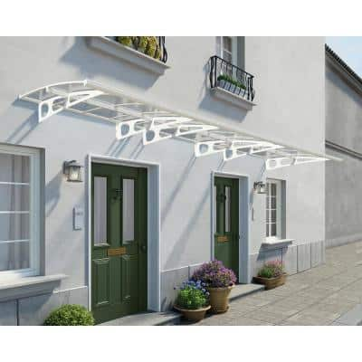Bordeaux 6690 22 ft. (13 in. H x 54.7 in. D) White Door Canopy Awning