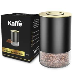 8 oz. Glass Storage Container Coffee Canister - BPA Free Stainless Steel with Airtight Lid