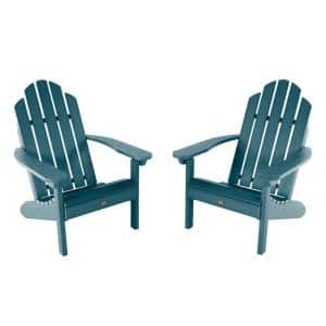 Classic Westport Nantucket Blue Plastic Adirondack Chair (2-Pack)