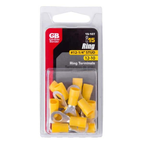 Gardner Bender 20-108 Crimp Ring Terminal 12-10 AWG 600 V Copper Yellow for sale online