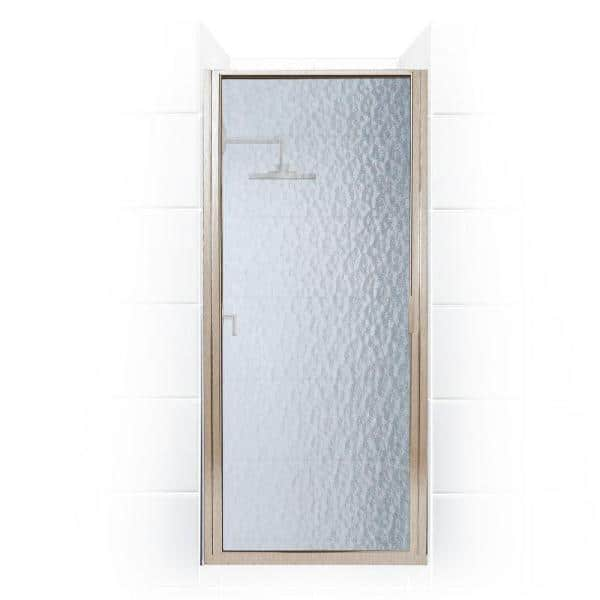 Coastal Shower Doors Paragon 34 In To 34 75 In X 70 In Framed Continuous Hinged Shower Door In Brushed Nickel With Aquatex Glass P34 70n A The Home Depot