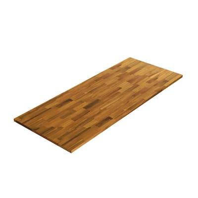 3/4 in. x 20 in. x 4 ft. Acacia Appearance Board, Golden Teak