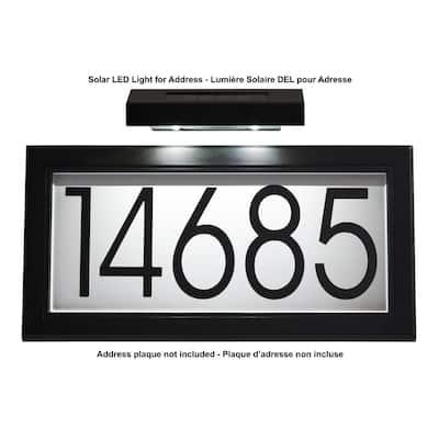 Solar LED Light for Address, Black