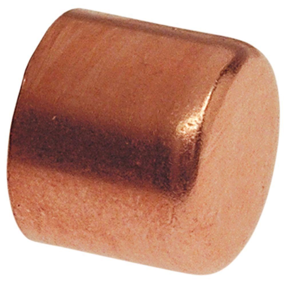 1/2 in. Copper Pressure Tube Cap Fitting