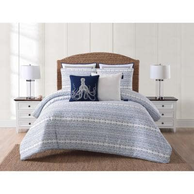 Reef 2-Piece Blue Twin XL Comforter Set