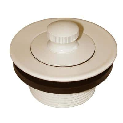 1-1/2 in. Lift and Turn Bath Tub Drain with 1-7/8 in. O.D. Coarse Threads, Almond