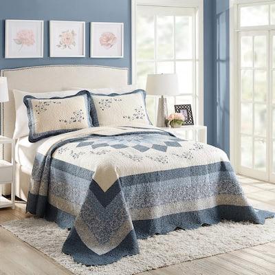 Charlotte Blue Cotton Standard Sham