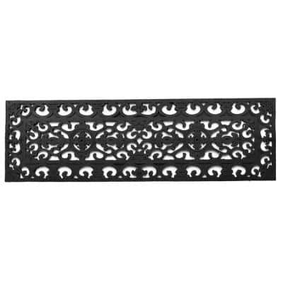 Wrought Iron Square 30 in. x 9 in. Vulcanized Rubber Stair Mat