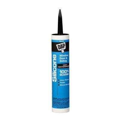 Silicone 10.1 oz. Black Window, Door and Siding Sealant (12-Pack)