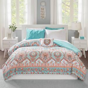 Avery 6-Piece Aqua Twin Comforter Set