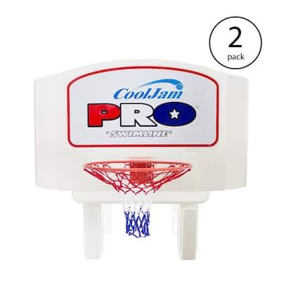 Super Wide Cool Jam Pro Inground Swimming Pool Basketball Hoop (2-Pack)