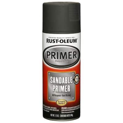 12 oz. Black Sandable Primer Spray (6-Pack)