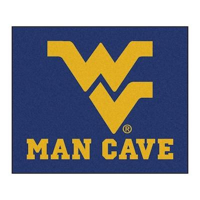 West Virginia University Blue Man Cave 5 ft. x 6 ft. Area Rug