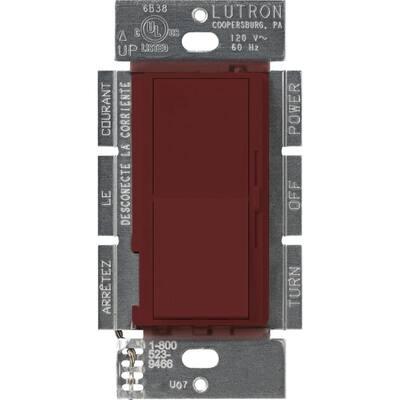 Diva 1.5 Amp Single-Pole/3-Way 3-Speed Fan Control, Merlot