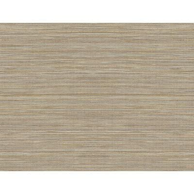 Luxe Sisal Pashmina And Metallic Silver Vinyl Peel & Stick Wallpaper Roll (Covers 40.5 Sq. Ft.)