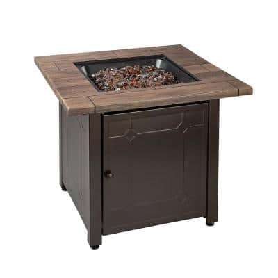 30 in. Square Brooks LP Outdoor Gas Fire Pit