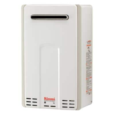 High Efficiency 6.5 GPM Residential 150,000 BTU Natural Gas Exterior Tankless Water Heater