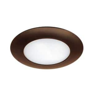 6 in. Oil Rubbed Bronze Recessed Shower Trim with Albalite Lens