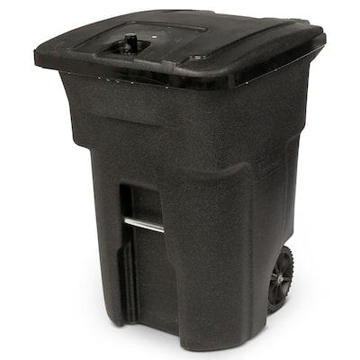 96-Gal. Black Bear-Tight Wheeled Trash Can