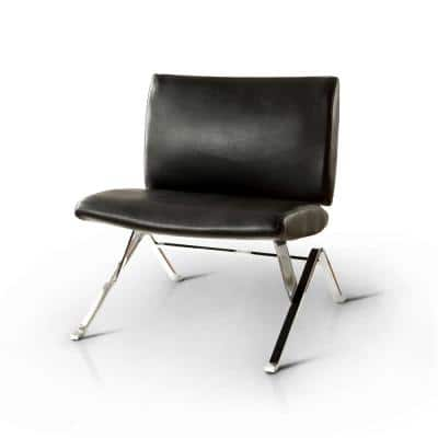Jolie Black Leather Accent Side Chair