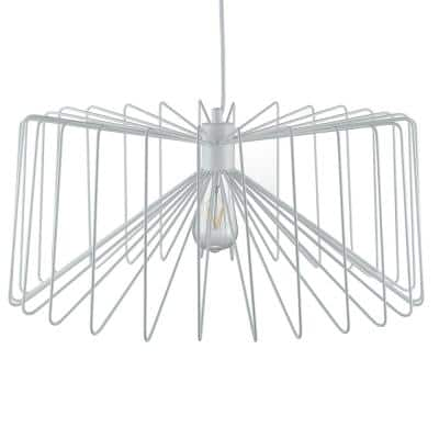 Pepe 1-Light White Pendant Lamp