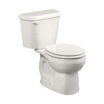 Colony 2-Piece 1.28 GPF Single Flush Round Toilet in White, Seat Not Included