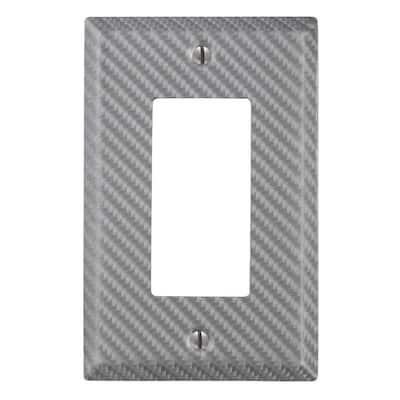 Branston 1 Gang Rocker Steel Wall Plate - Silver