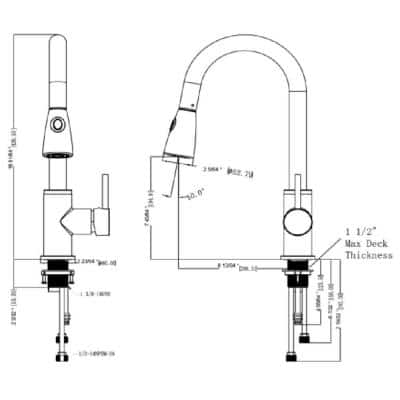 Eastport Single-Handle Pull-Down Sprayer Kitchen Faucet in Satin Nickel