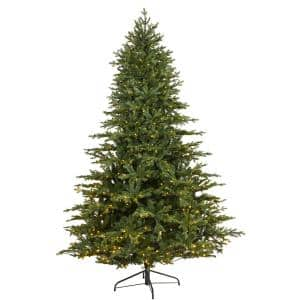 7.5 ft. Pre-Lit Wyoming Spruce Artificial Christmas Tree with 650 Clear LED Lights