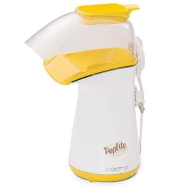 PopLite 4 oz. White and Yellow Hot Air Countertop Popcorn Popper