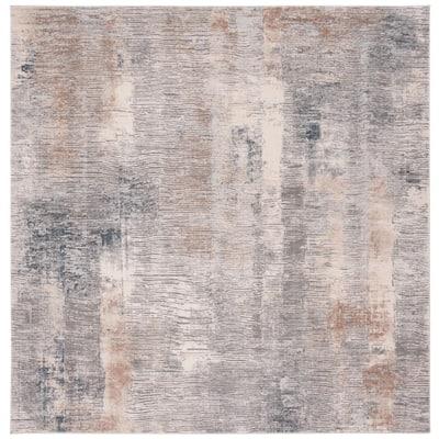 Invista Cream/Gray 7 ft. x 7 ft. Square Area Rug