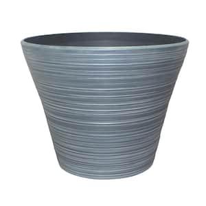 Cabana 16 in. x 12.5 in. Gray High-Density Resin Planter